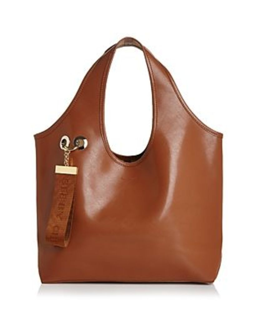 See by Chloe Jay Large Logo Tag Leather Tote