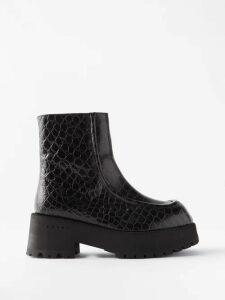 Evi Grintela - Juliette Striped Cotton Maxi Shirtdress - Womens - Blue White