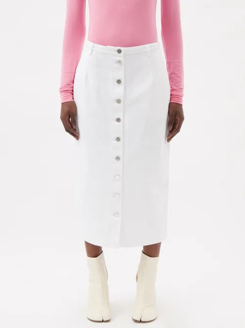 Evi Grintela - Juliette Cotton Maxi Shirtdress - Womens - Navy