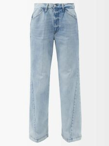 Giuliva Heritage Collection - The Karen Pinstriped Single Breasted Linen Blazer - Womens - Beige