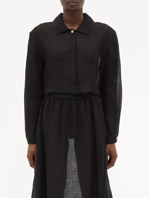 Norma Kamali - Sequinned Flared Mini Dress - Womens - Black