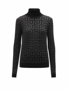 Proenza Schouler - Pieced Rib Knit Cotton Blend Dress - Womens - Blue Multi
