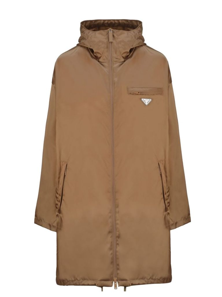 Prada Logo Patch Raincoat