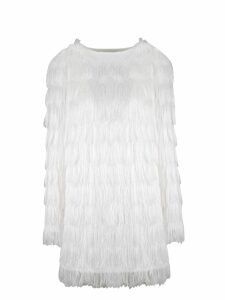 Balmain Sparkle Fringe Mini Dress