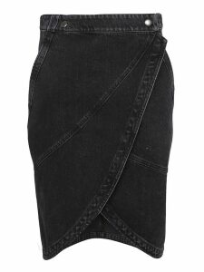 Givenchy Layered Denim Pencil Skirt