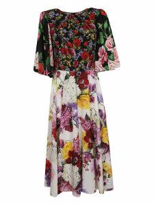 Dolce & Gabbana Floral Print Long Dress
