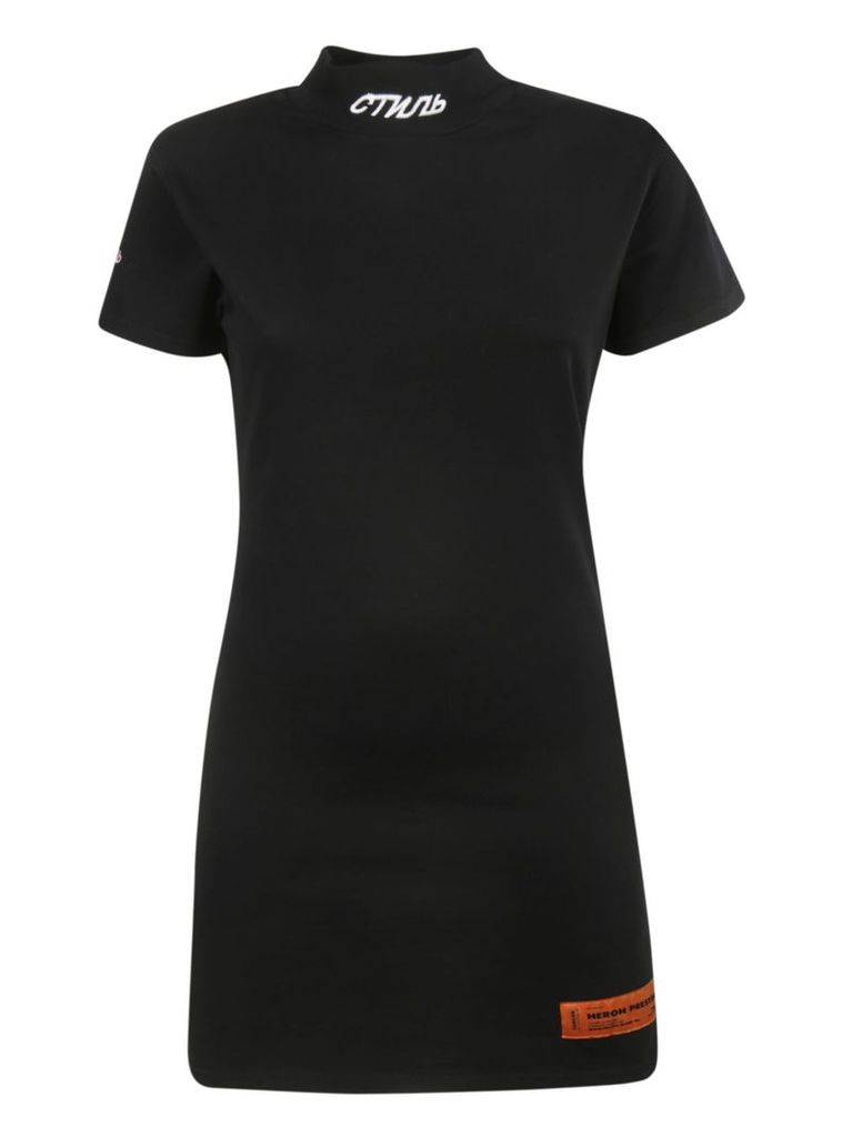 Heron Preston Logo Embroidered Dress