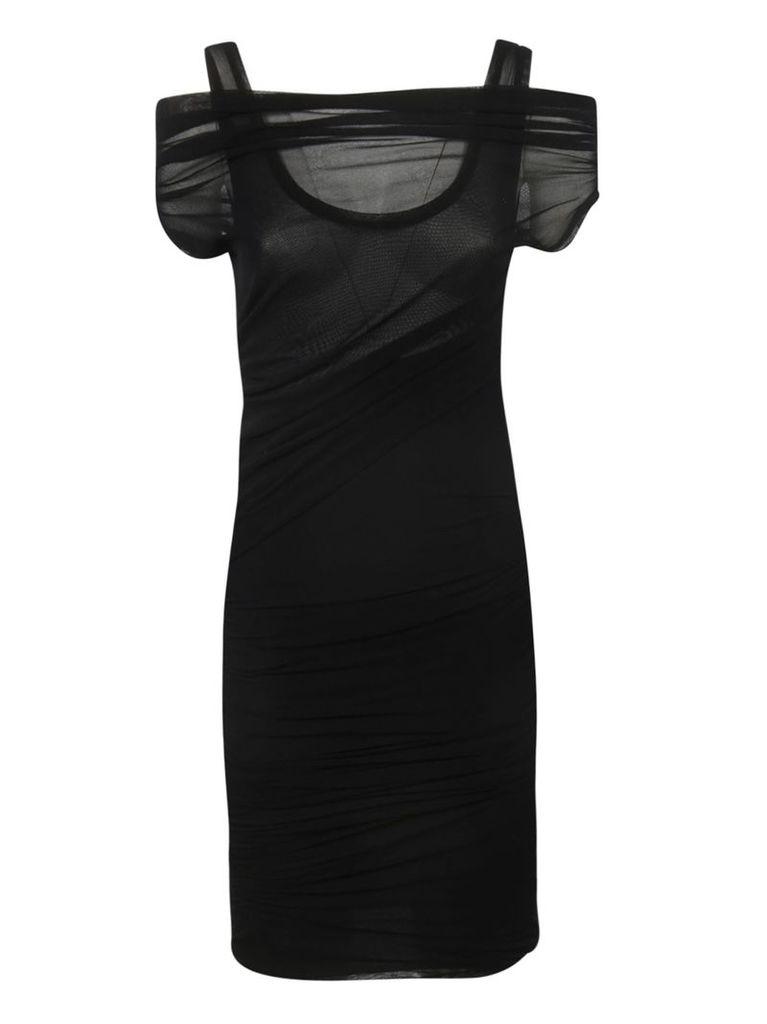 Msgm Sheer Detail Dress