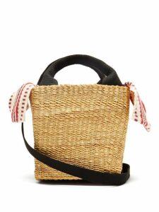 Muuñ - Mini Rita Straw Basket Bag - Womens - Red Multi