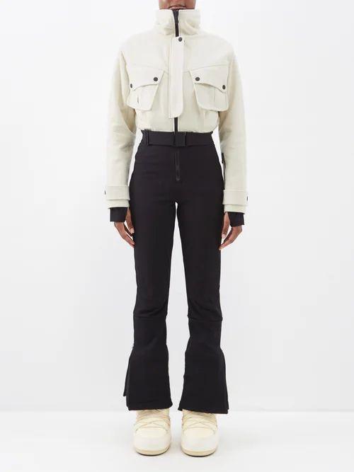 Muuñ - Mini Tina Woven Straw Basket Bag - Womens - Yellow Multi