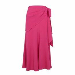 Anna October Fuchsia Crepe Midi Skirt