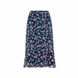 Kitri Lois Floral Print Flared Skirt