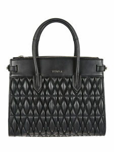 Furla M Pin Quilted Tote