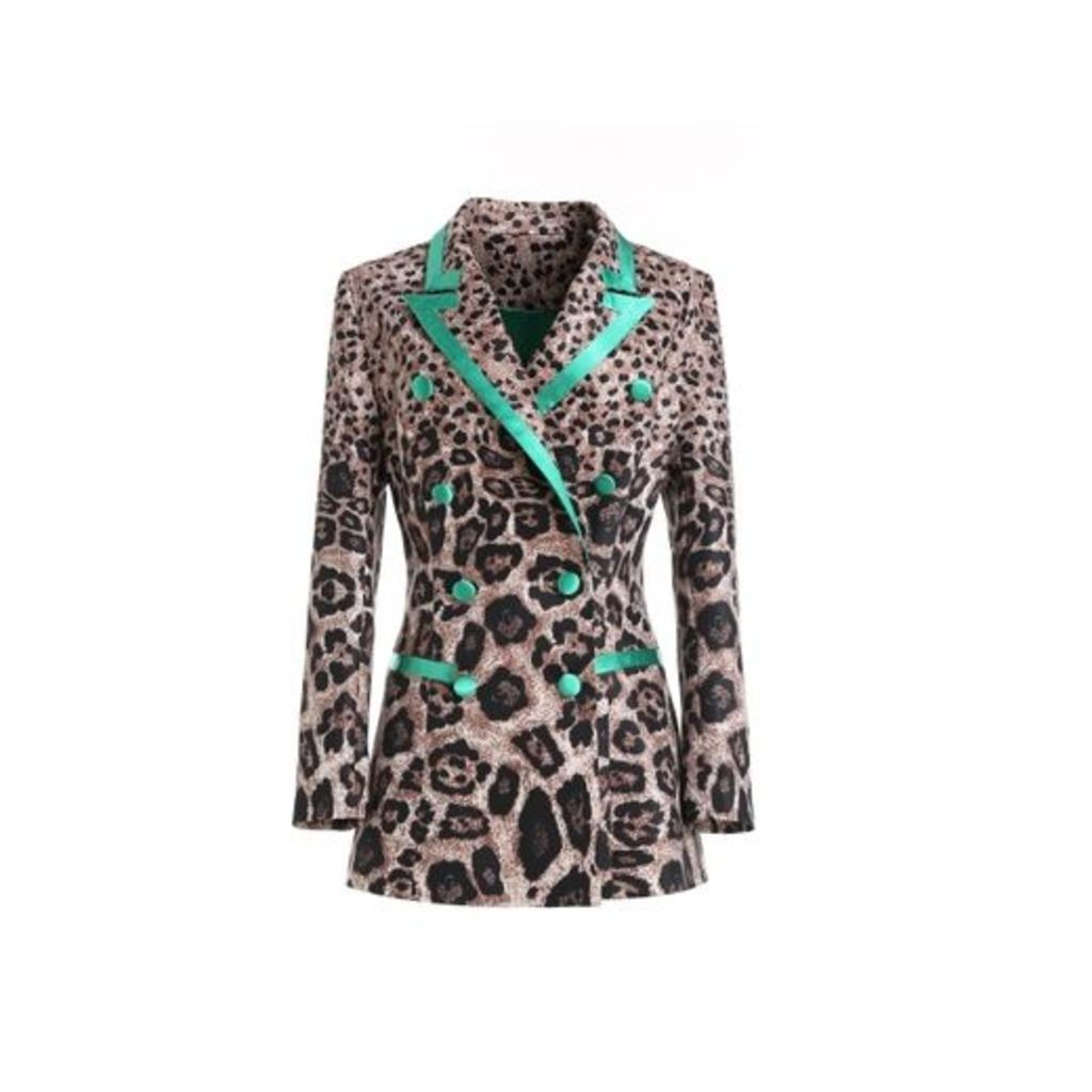 Comino Couture Comino Couture Leopard-print Jacquard Suit