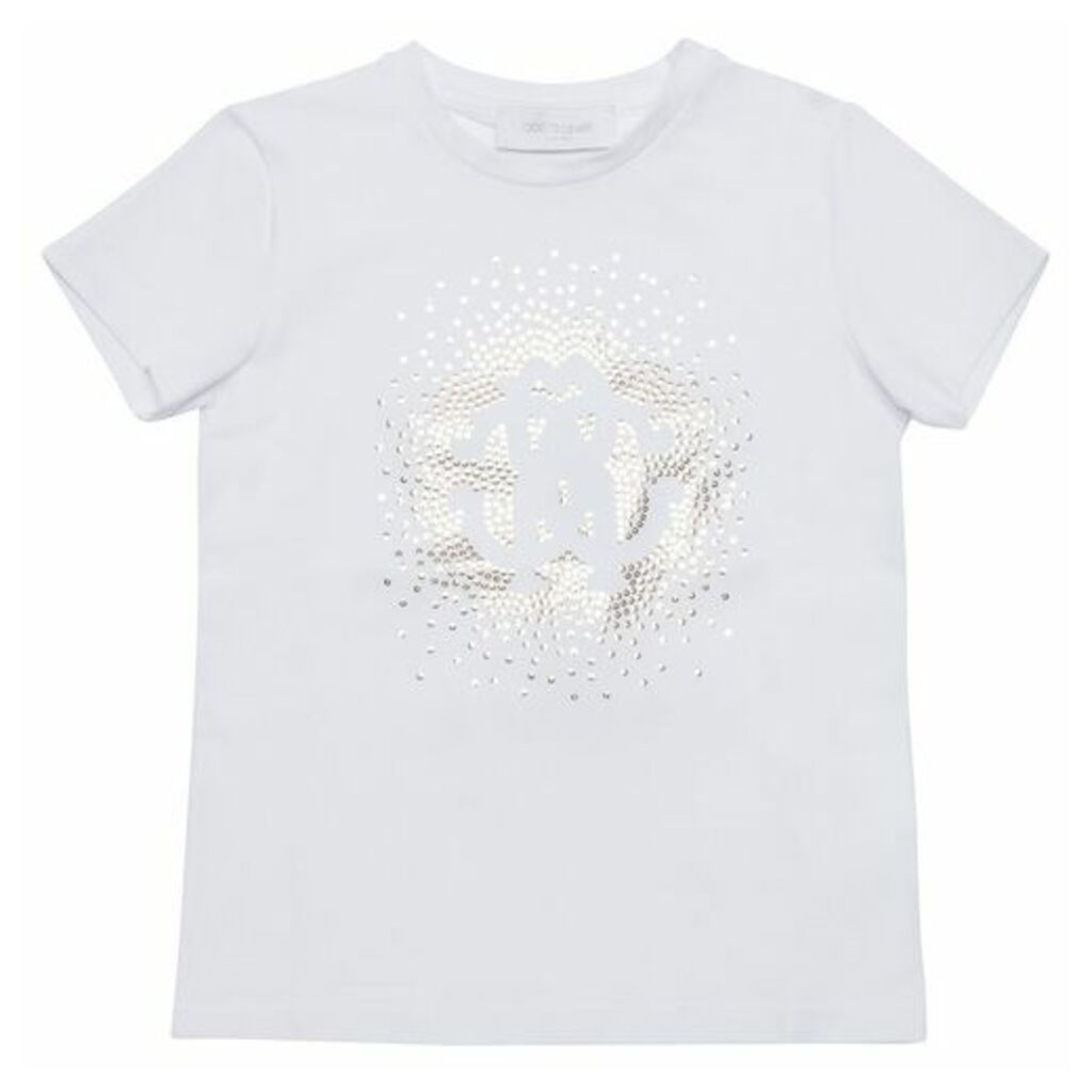 Roberto Cavalli Sequin Cotton T-shirt