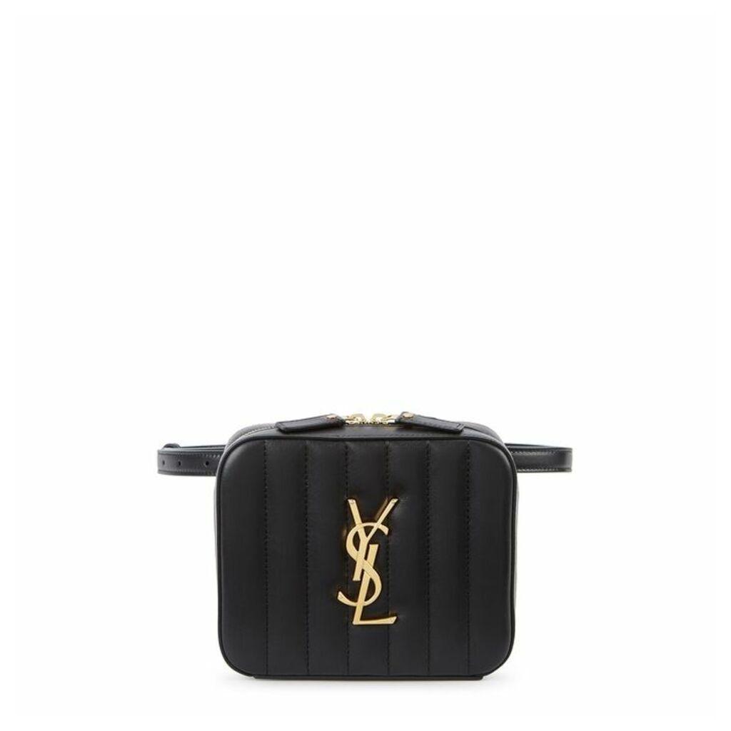 Saint Laurent Vicky Black Leather Belt Bag
