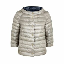Herno Grey Reversible Quilted Shell Jacket