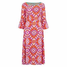 Libelula - Bearob Dress Pink Geometric Print