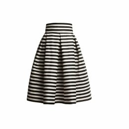 Rumour London - Amalfi Striped Midi Skirt Black & White