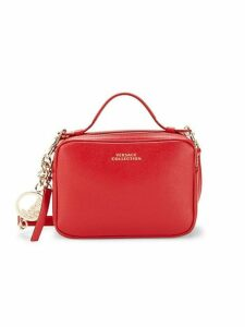 Boxed Leather Crossbody Bag
