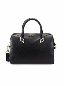 Classic Leather Top Handle Satchel