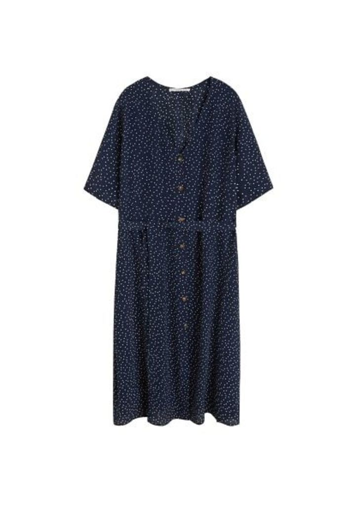 Polka dot shirt dress