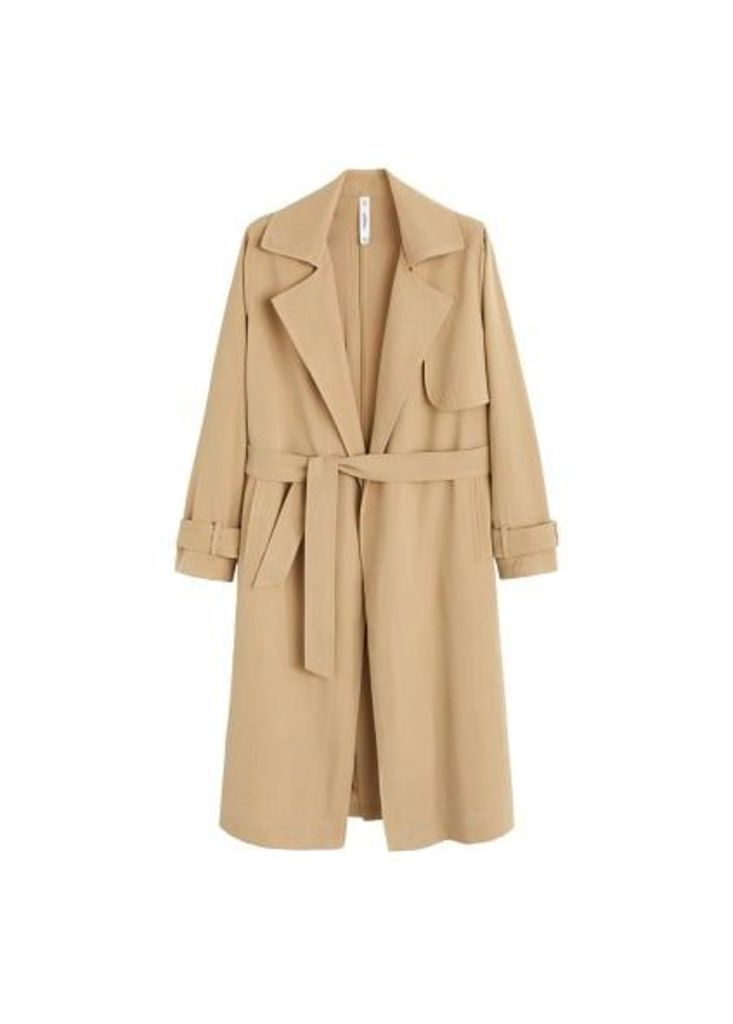 Classic trench with bows