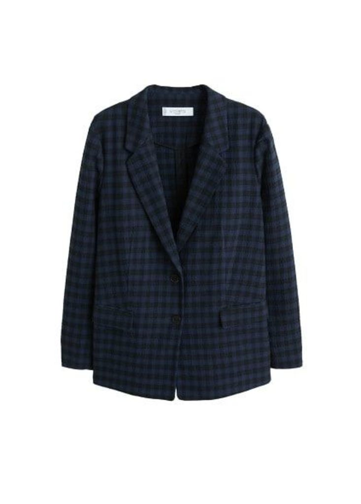 Check Structured blazer