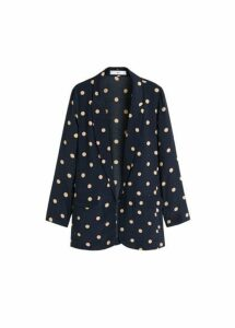 Structured polka-dot blazer