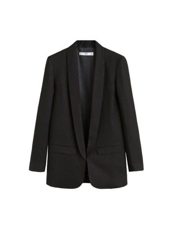Structured linen jacket