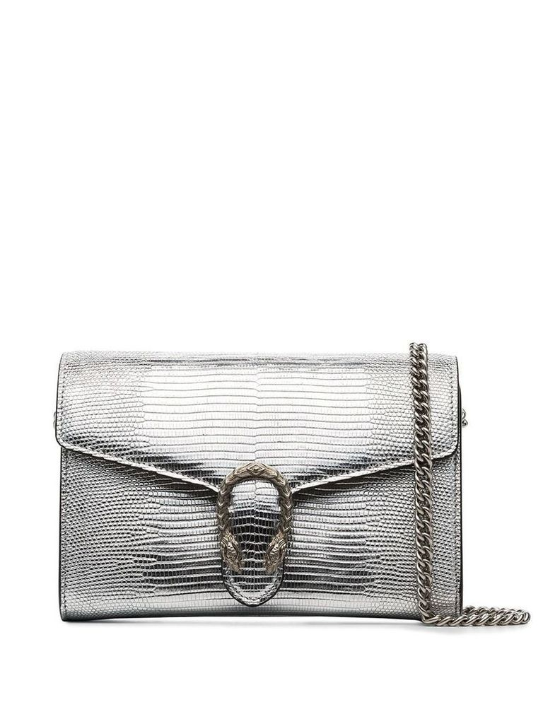 Gucci Dionysus textured leather shoulder bag - Silver