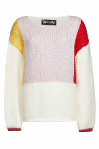PAUL X CLAIRE Colorblock Pullover with Mohair