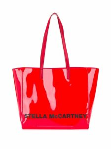 Stella McCartney logo print small tote - Red