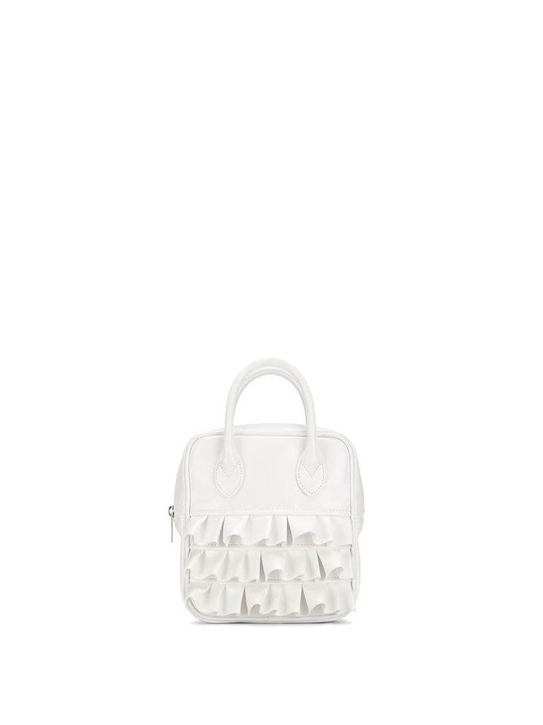 Comme Des Garçons Girl small ruffled tote bag - White