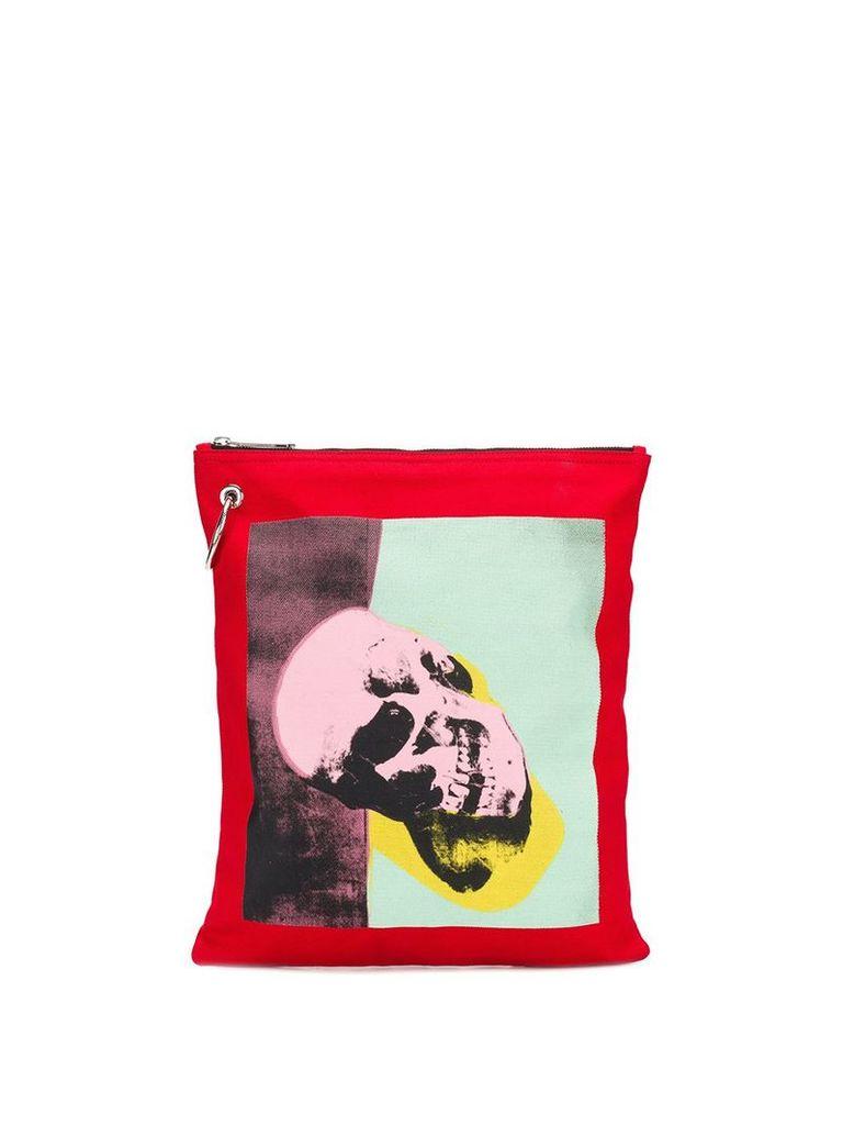 Calvin Klein 205W39nyc Calvin Klein x Andy Warhol skull print pouch -