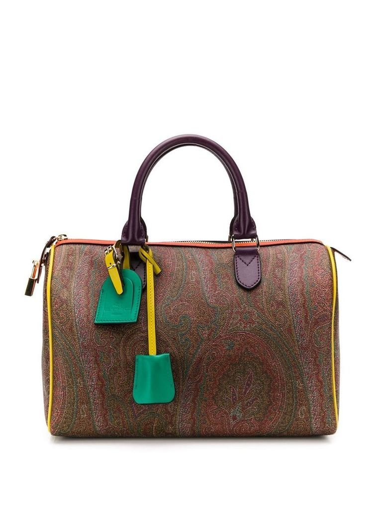 Etro paisley tote bag - Brown