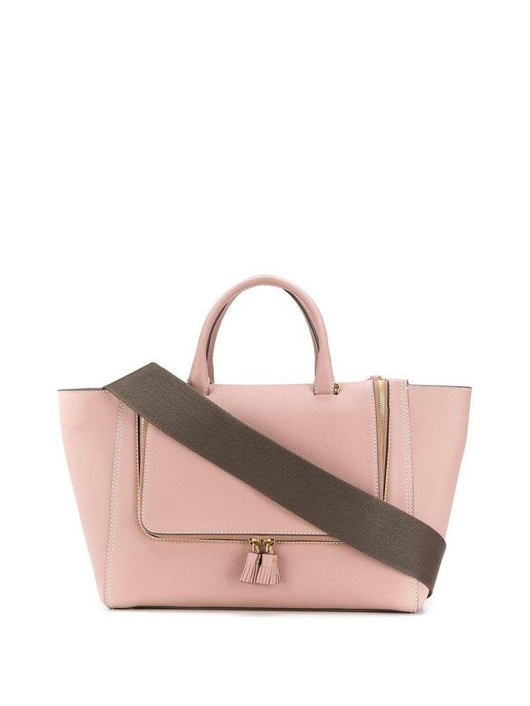 Anya Hindmarch Vere Tote lustre mini grain - Pink