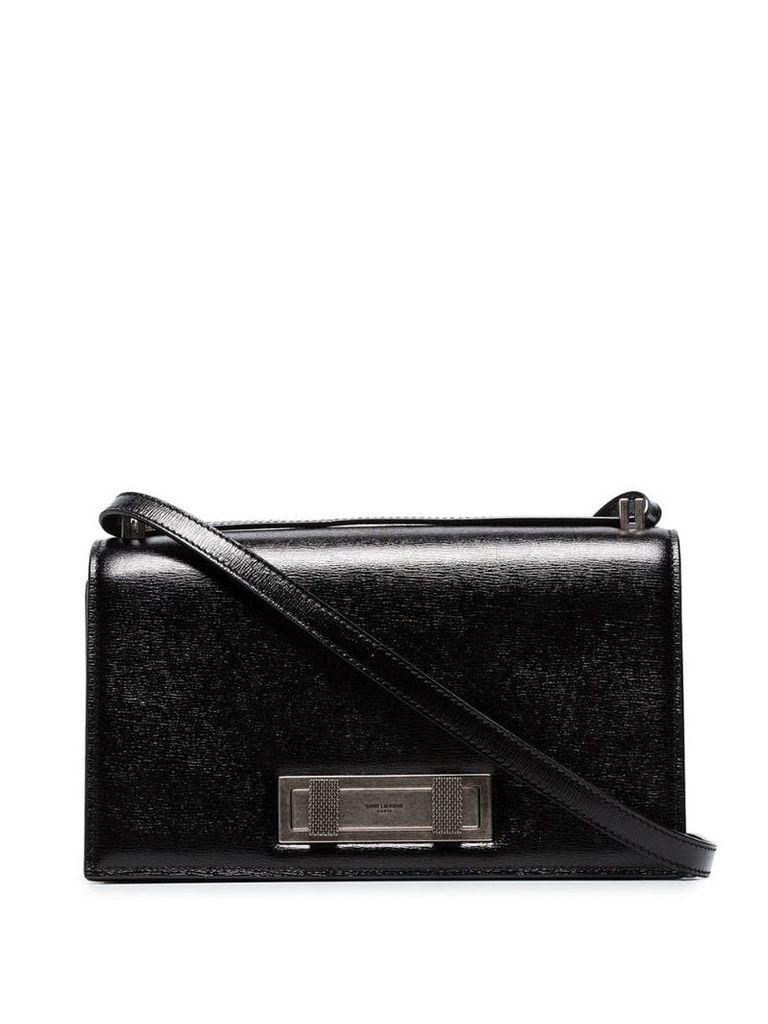 Saint Laurent black domino medium leather shoulder bag
