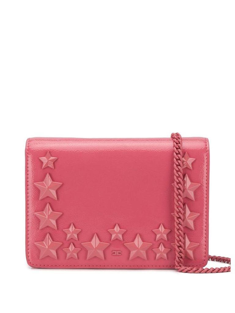 Elisabetta Franchi star stud shoulder bag - Pink