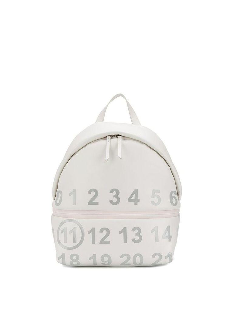 Maison Margiela logo embellished backpack - White