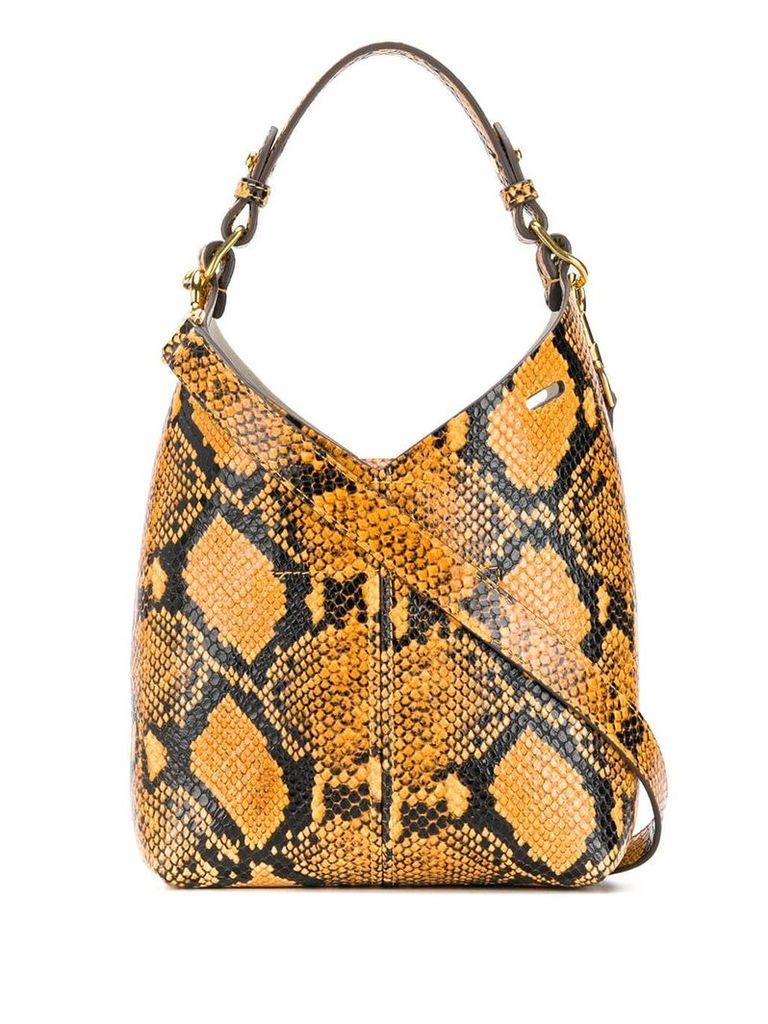 Anya Hindmarch mini python print Build a Bag - Yellow