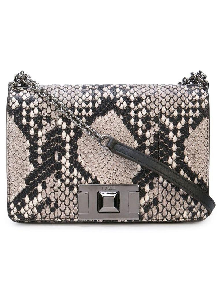 Furla snake-print crossbody bag - Grey