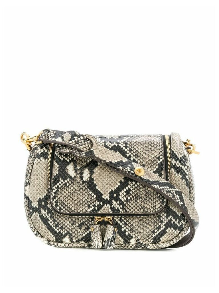Anya Hindmarch python print shoulder bag - Neutrals