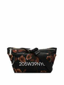 Calvin Klein 205W39nyc black hazy floral print zipped cross body bag