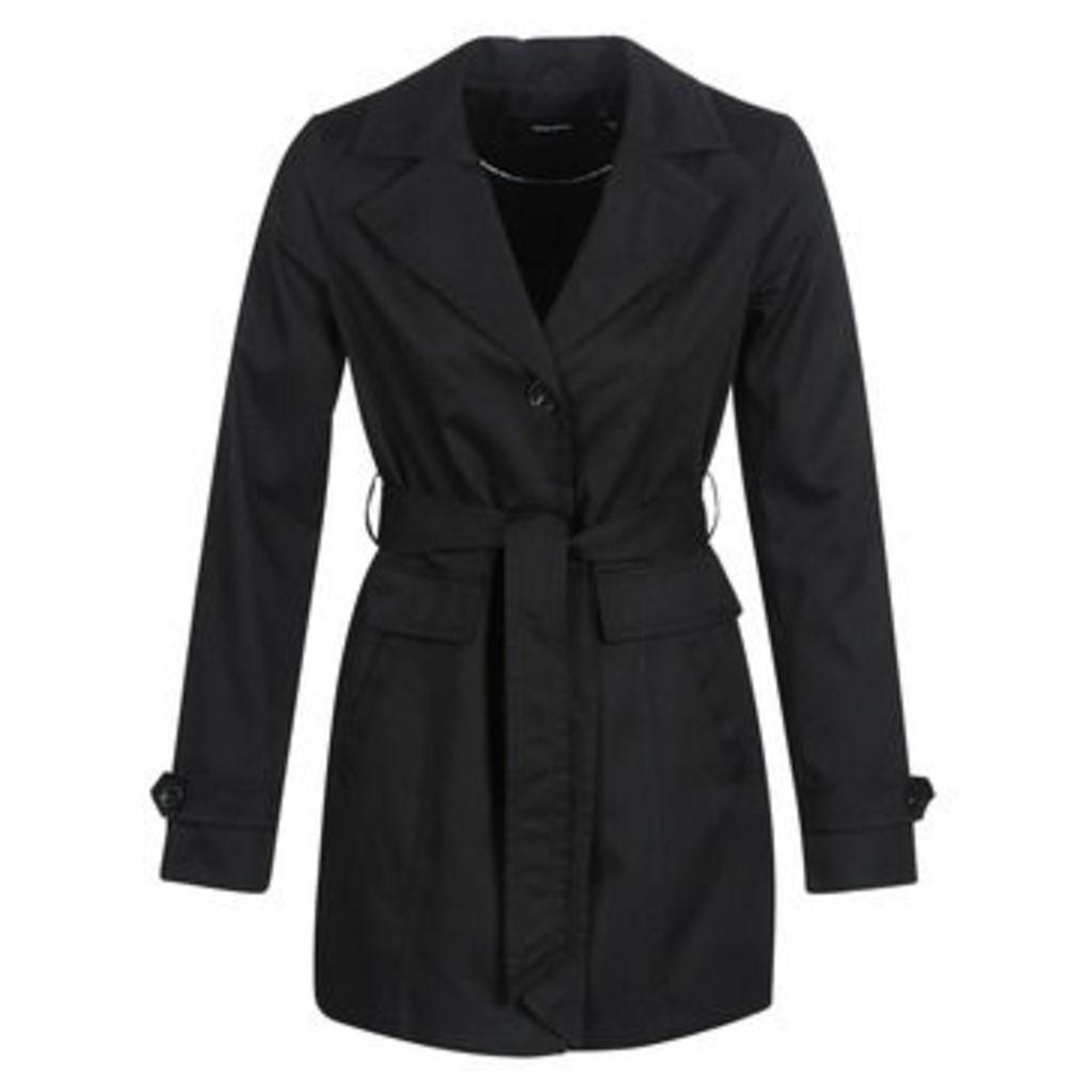 Vero Moda  VMEVA ABBY  women's Trench Coat in Black
