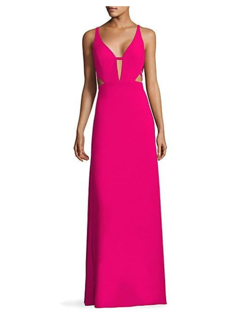 Crepe Cutout Gown