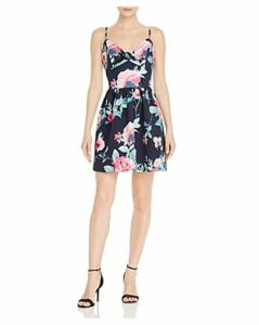 Aqua Sleeveless Floral-Print Dress - 100% Exclusive