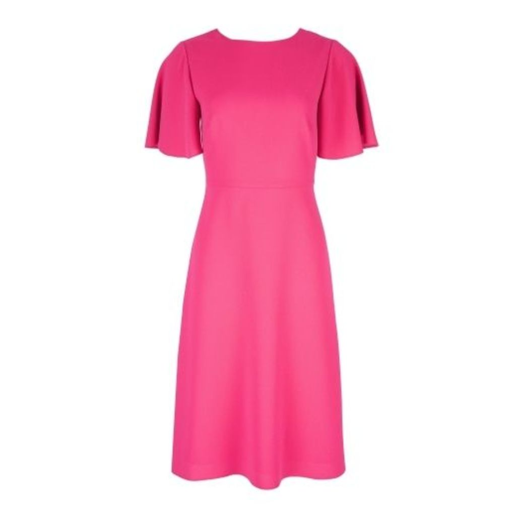 Hot Pink VBack Dress