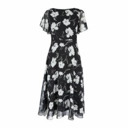 Painterly Floral Fit and Flare Dress