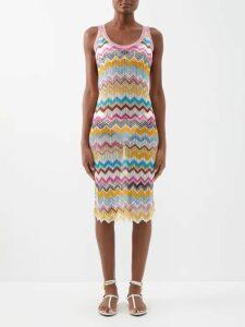 Love Binetti - Simple Minds Belted Tiered Cotton Dress - Womens - Dark Orange